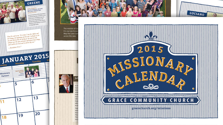 2015 Missionary Calendar image